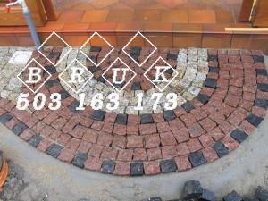 bruk granitowy wejście taras